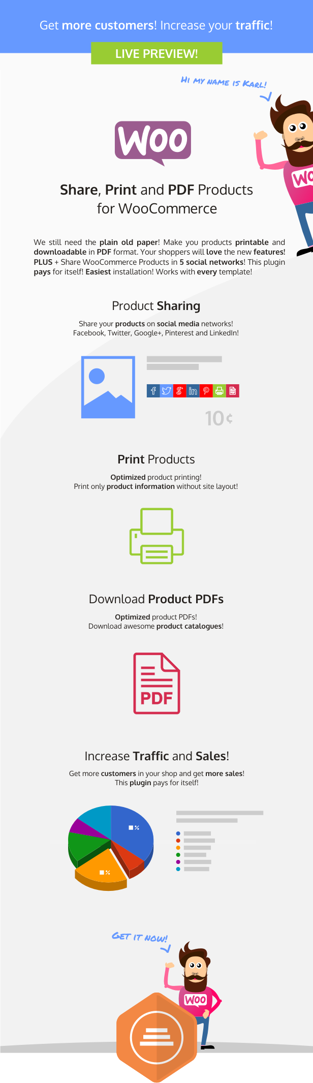 Share, Print and PDF Products for WooCommerce - 2